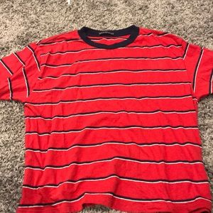 brandy meville oversized striped t-shirt